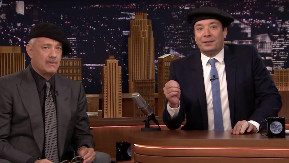 Tom Hanks und Jimmy Fallon in der Tonight Show.