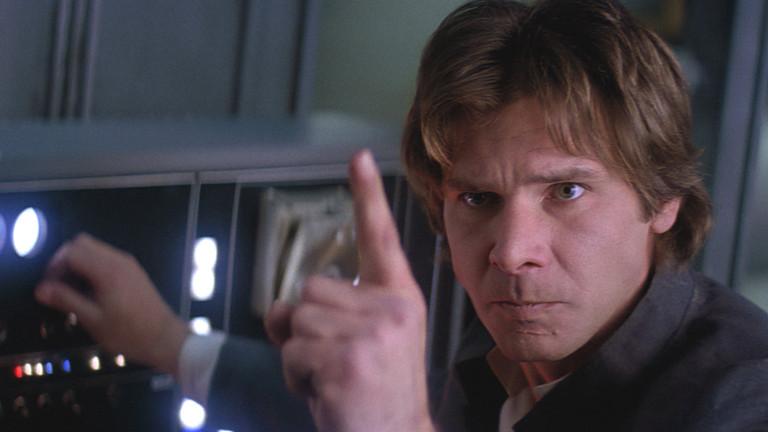Han Solo (Harrison Ford) war ursprünglich ein Schmuggler, der sich aber auf die Seite der Rebellen geschlagen und maßgeblic