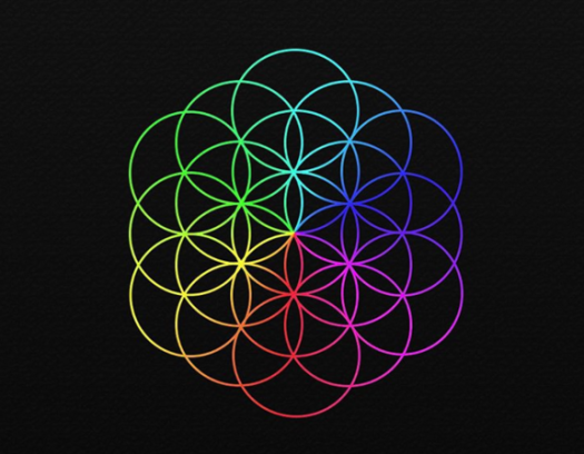 """Coldplays """"Blume des Lebens"""" war auf Plakaten in Londoner U-Bahnhöfen gesichtet worden."""