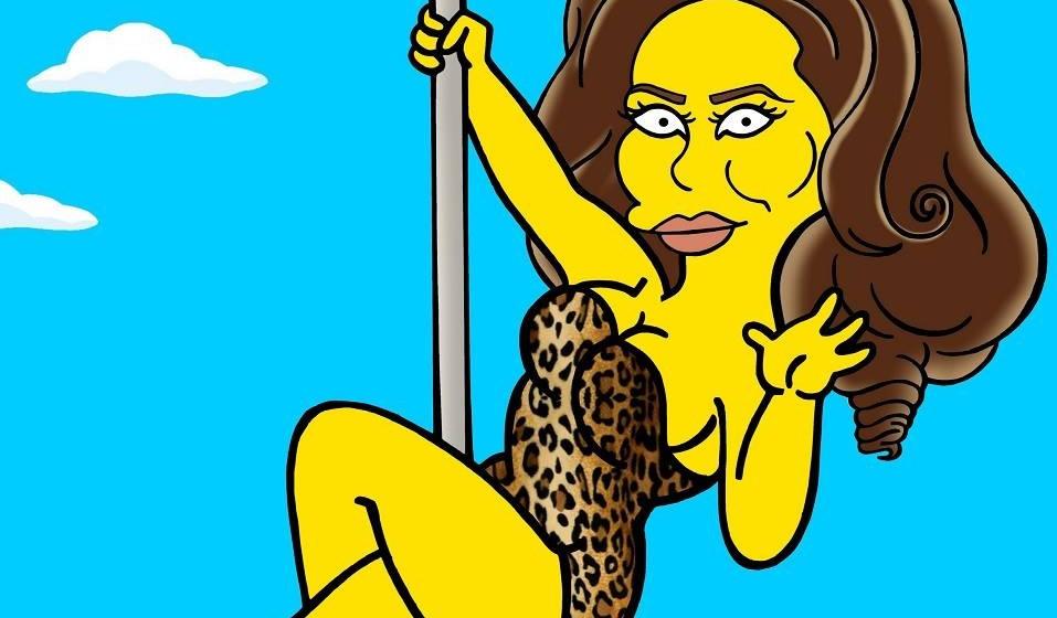 Adele als Simpsons-Charakter im Leo-Body