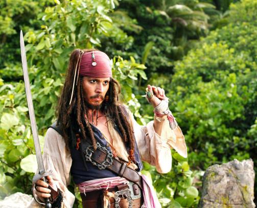 Johnny Depp in seiner Kult-Rolle als Captain Jack Sparrow