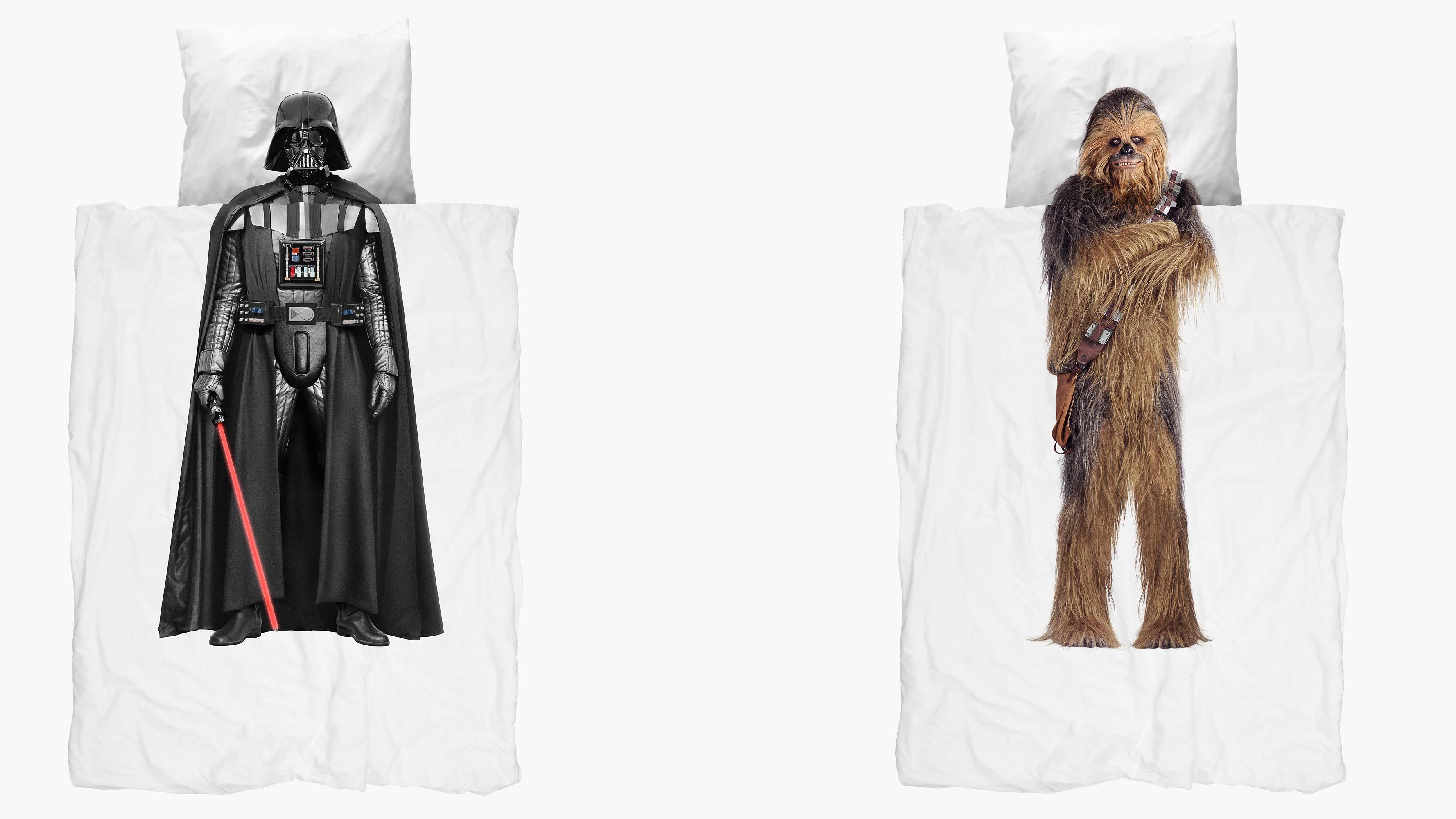 mit darth vader und chewbacca flotter dreier dank star. Black Bedroom Furniture Sets. Home Design Ideas
