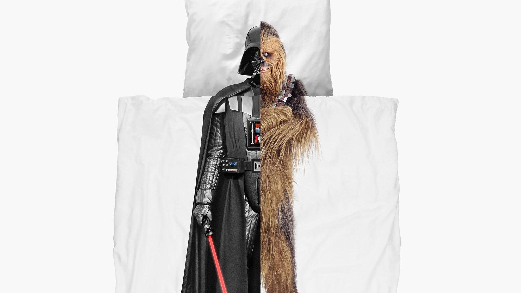 Mit Darth Vader Und Chewbacca Flotter Dreier Dank Star Wars