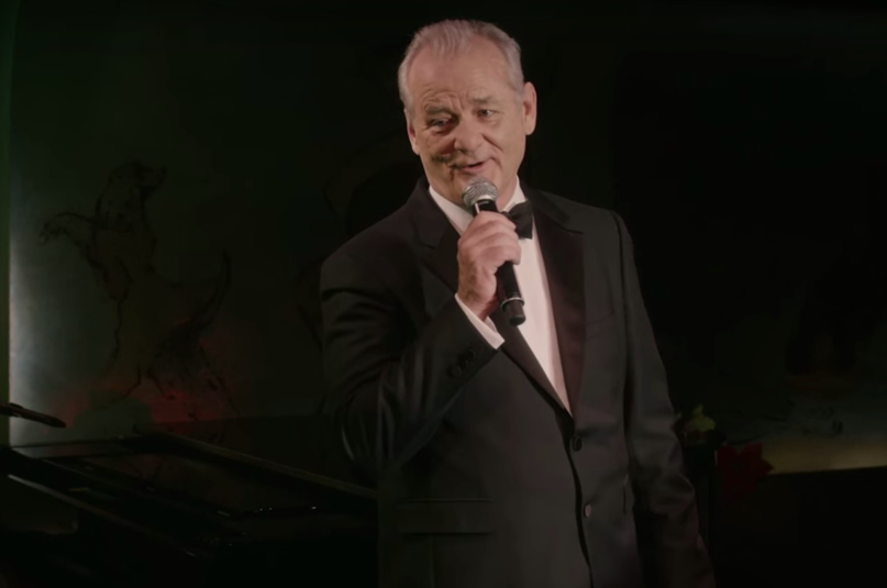 "Bill Murray sing im neuen Coppola-Film ""A Very Murray Christmas"" den Klassiker ""Jingle Bells"""