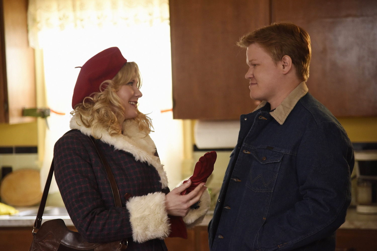 FARGO -- Pictured: (l-r) Kirsten Dunst as Peggy Blumquist, Jesse Plemons as Ed Blumquist.