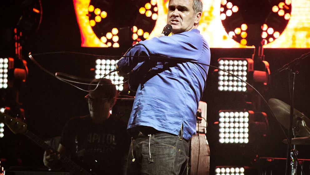 LOS ANGELES, CA - AUGUST 23:  Morrissey performs at FYF Fest 2015 LA Sports Arena & Exposition Park on August 23, 2015 in