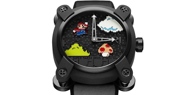 Fleißig Münzen sammeln muss auch der willige Käufer. Die Super-Mario-Uhr kostet 18.950 Dollar.