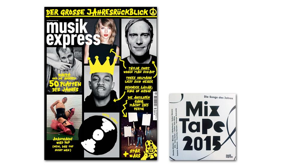Der neue Musikexpress - ab 10. Dezember 2015 am Kiosk.
