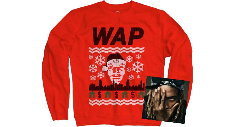 Ein Fest: Fetty Waps Album kommt im Bundle mit Weihnachtspullover.