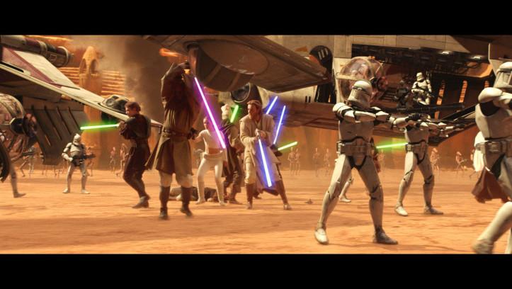 Gemeinsam mit der Armee der Klonkrieger befreien die anderen Jedi Obi-Wan und Co. aus den Fängen von Count Dooku.