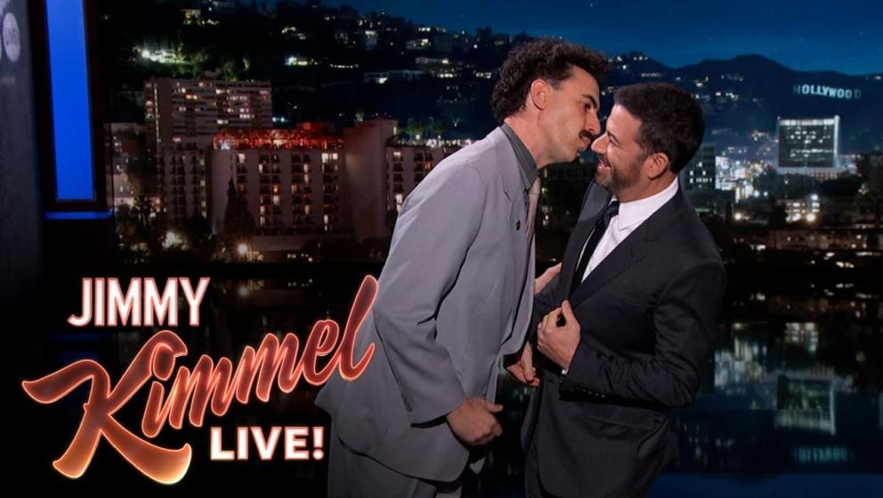 Borat trat bei Jimmy Kimmel Live auf.