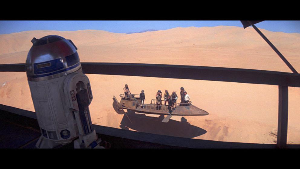 Luke und seine Freunde sollen dem Sarlacc-Monster zum Fraß vorgeworfen worden, doch Luke hat einen Plan: Er hat sein Lichtsc