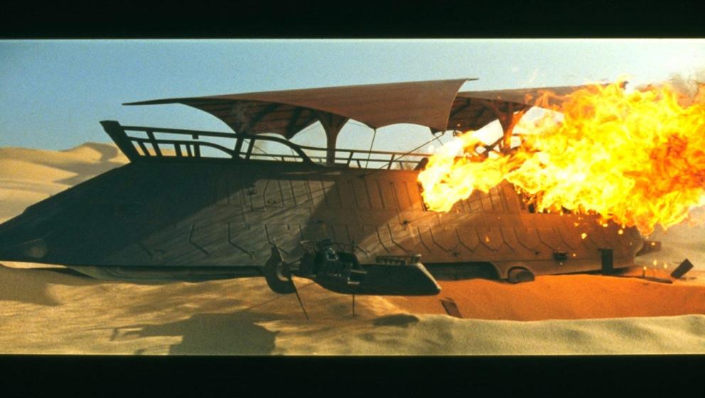 Jabbas Barge wird von Luke zerstört und unsere Helden können entkommen.