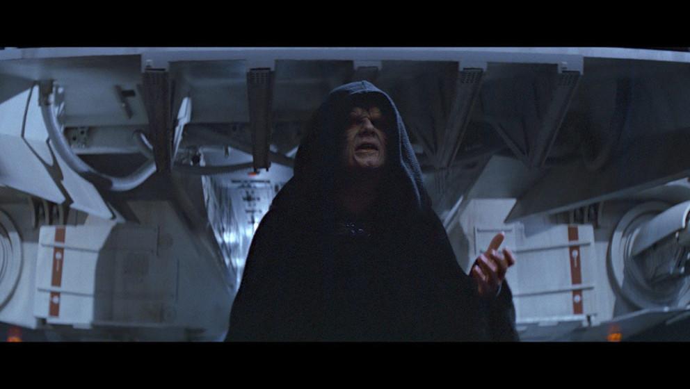 Der Imperator ist auf dem Todesstern eingetroffen. Er erzählt Vader davon, dass er in einer Vision gesehen hat, wie Luke nac