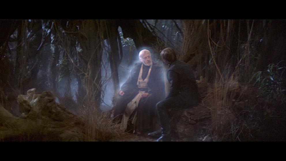 Luke wird von Obi-Wans Geist besucht. Von ihm erfährt Luke, dass er eine Schwester hat, von der er aber direkt nach der Gebu