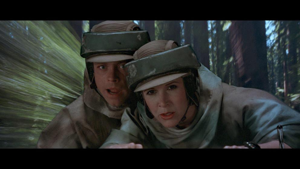 Auf Endor angekommen, müssen Luke und Leia zwei Stormtrooper verfolgen, die sie entdeckt haben.