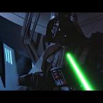 In Rage schlägt Luke Darth Vader die Hand ab. Erst dann merkt er, was er tut und wirft sein Lichtschwert weg: Er will nicht gegen seinen Vater kämpfen.