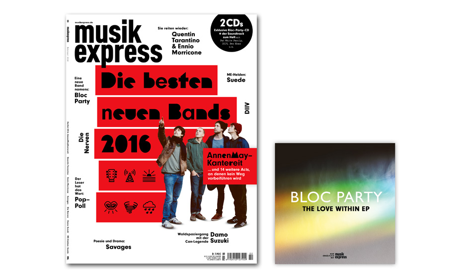 Die Februar-Ausgabe des Musikexpress - ab dem 14. Januar am Kiosk.