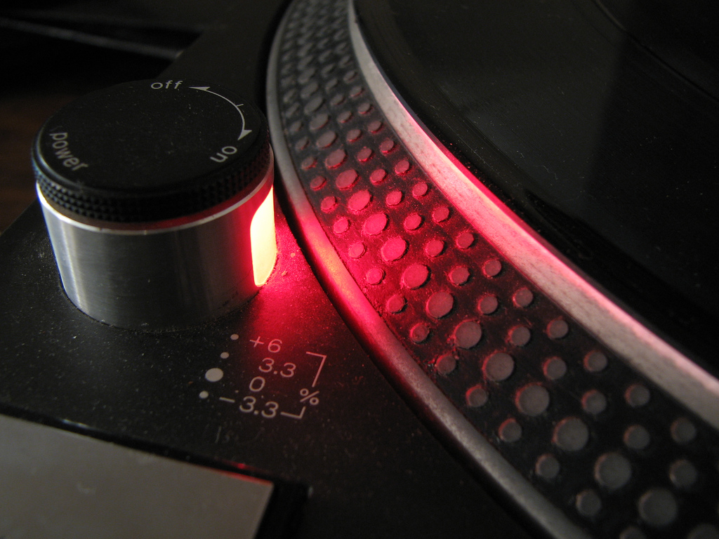 Treibt den Herzschlag jedes DJs auf 120 bpm: das berühmte Strobe Light  des Technics SL-1210