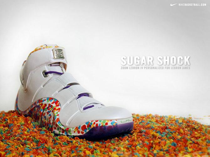 "Platz 9: Nike Zoom Lebron 4 ""Fruity Pebbles"""