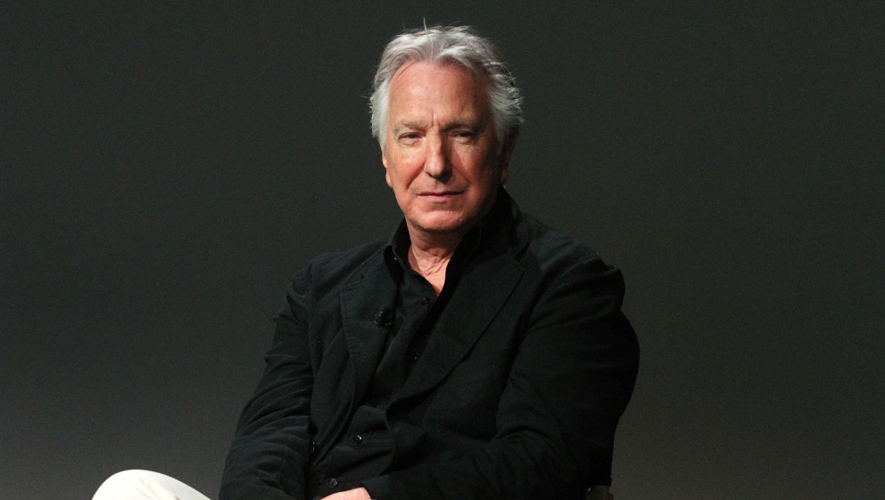 NEW YORK, NY - JUNE 19:  Alan Rickman attends Apple Store Soho: Meet the Filmmaker: Alan Rickman, 'A Little Chaos' at Apple S