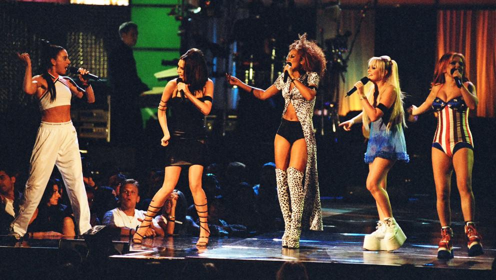 Victoria Beckham, Mel C, Emma Bunton, Geri Halliwell and Mel B from The Spice Girls (Photo by Jeff Kravitz/FilmMagic, Inc)