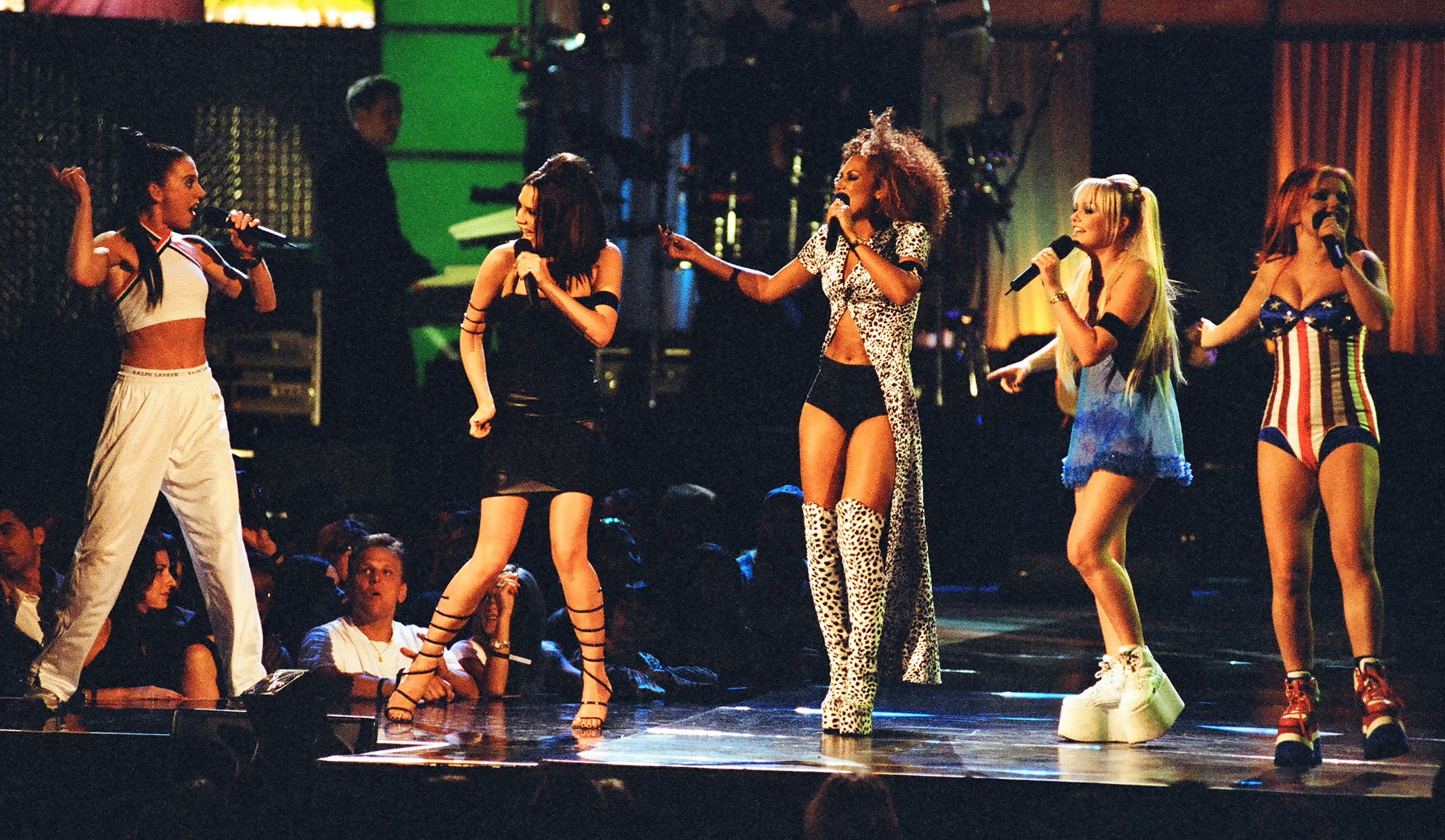 Victoria Beckham, Mel C, Emma Bunton, Geri Halliwell and Mel B from The Spice Girls (Photo by Jeff Kravitz/FilmMagic, Inc)