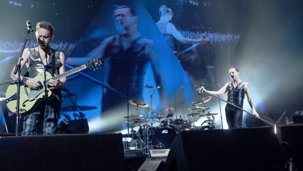 Martin Gore und Dave Gahan beim Konzert in Berlin