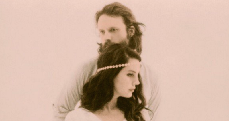 Lana Del Rey mit ihrem Idol Father John Misty.