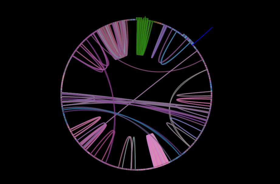 """Dafts Punks """"Around The World"""" visualisiert von der Infinite Jukebox: Jeder Balken ist eine Möglichkeit im Song vor- und"""