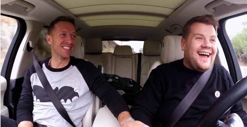 Hatten eine Menge Spaß zusammen: Chris Martin (l.) und James Corden (r.)