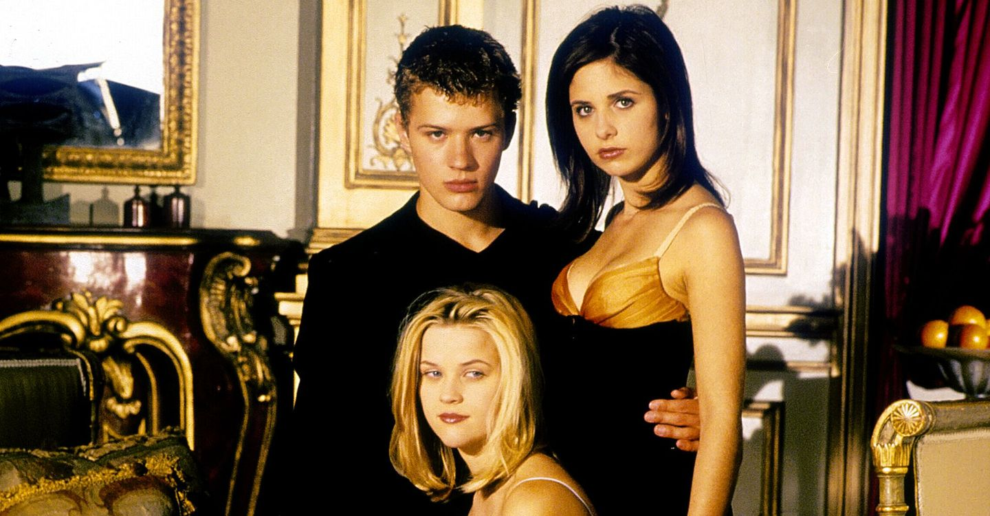 "Ryan Phillippe, Sarah Michelle Gellar und Reese Witherspoon in ""Eiskalte Engel"" (1999)."