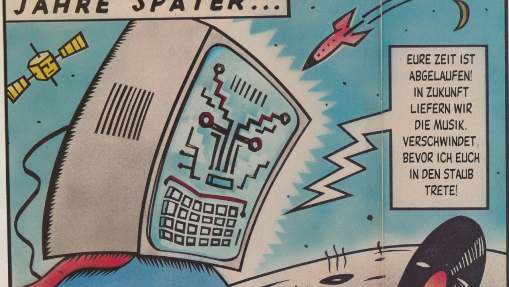Schon damals drohten Computer die physischen Tonträger komplett zu verdrängen.