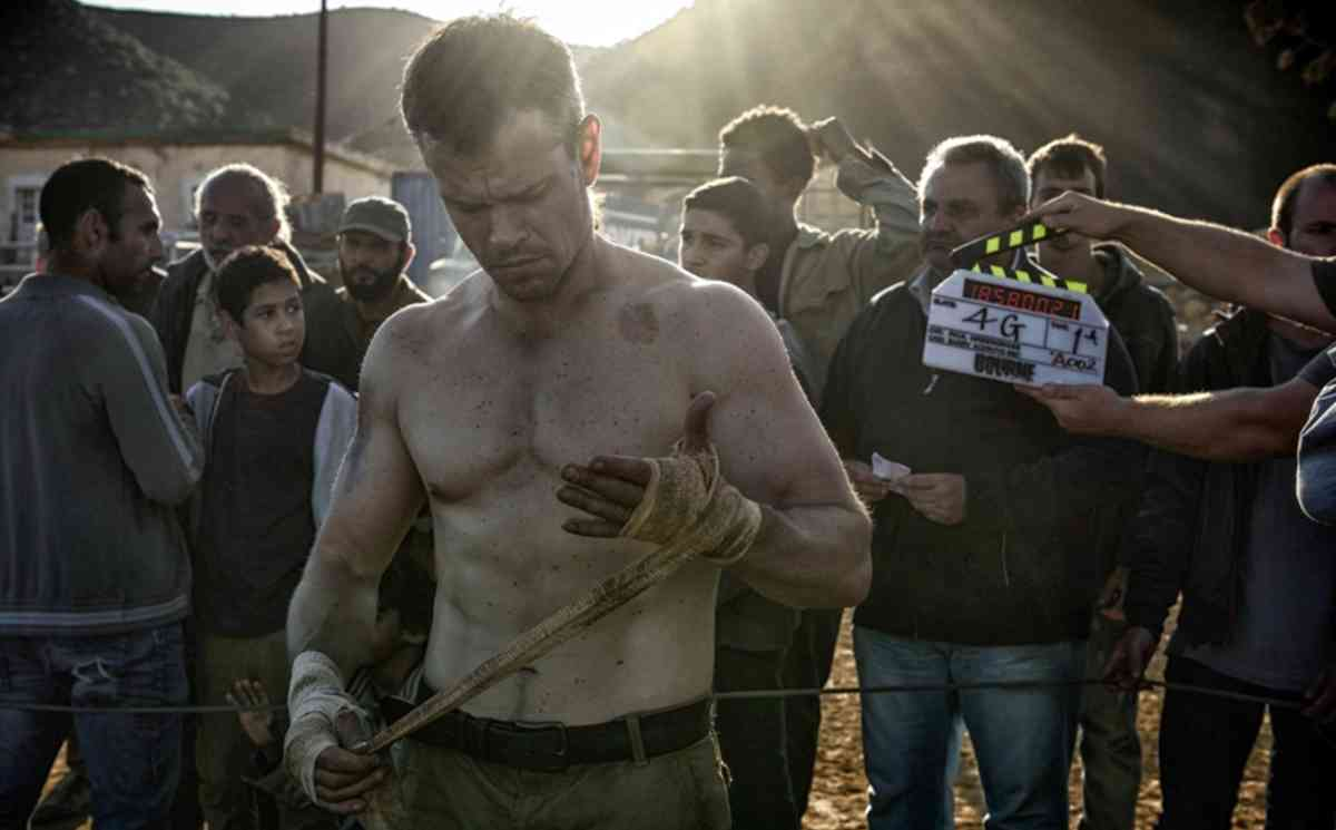 "Matt Damon am Set von ""Jason Bourne"""