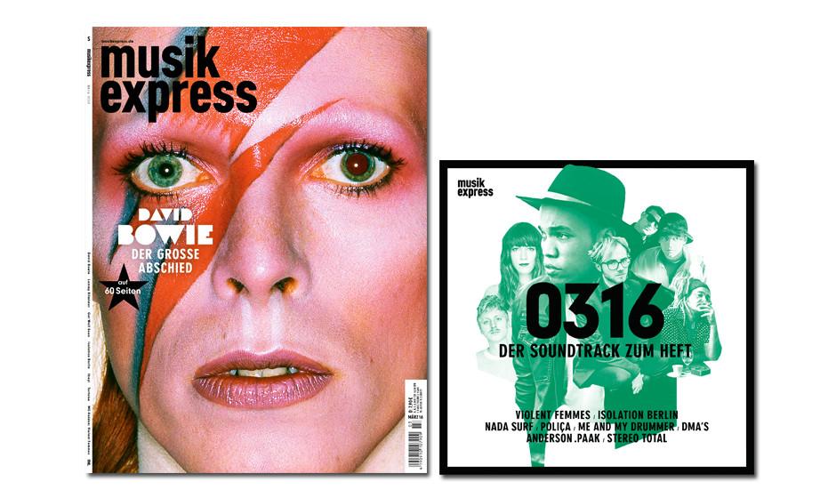 Der neue Musikexpress - mit 60 Seiten David Bowie.