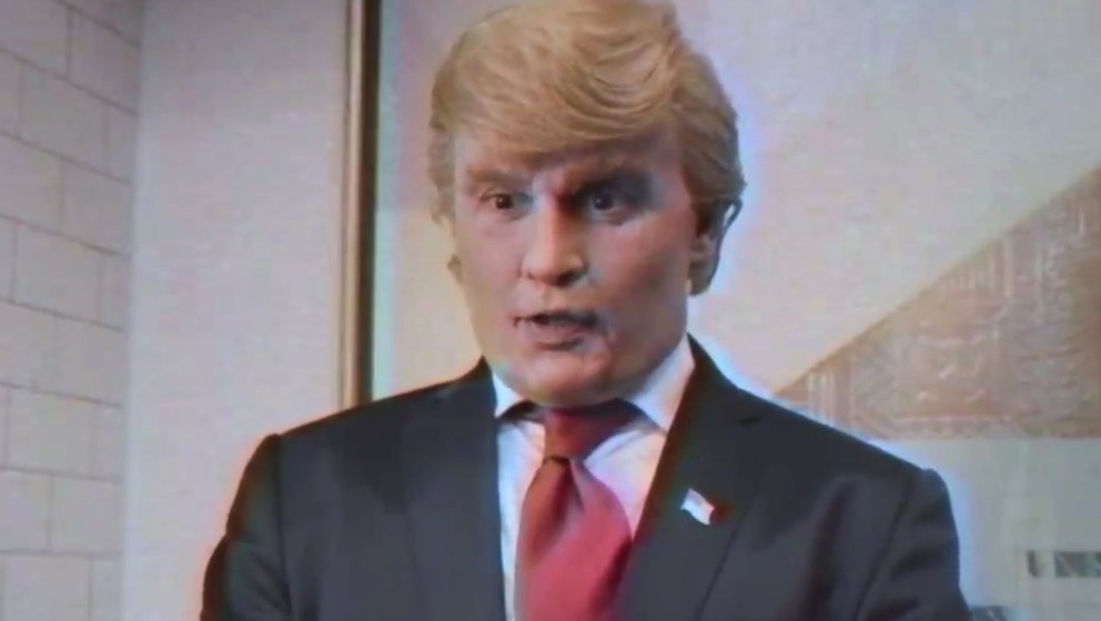 "Johnny Depp als Donald Trump in der Parodie ""The Art Of The Deal""."