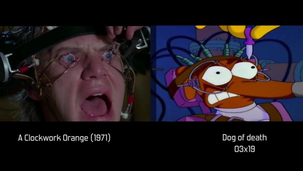 "Auch Stanley Kubricks Klassiker ""A Clockword Orange"" wurde bereits in ""Die Simpsons"" zitiert."