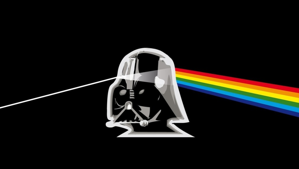 The dark side of the moon meets the dark side of the force.