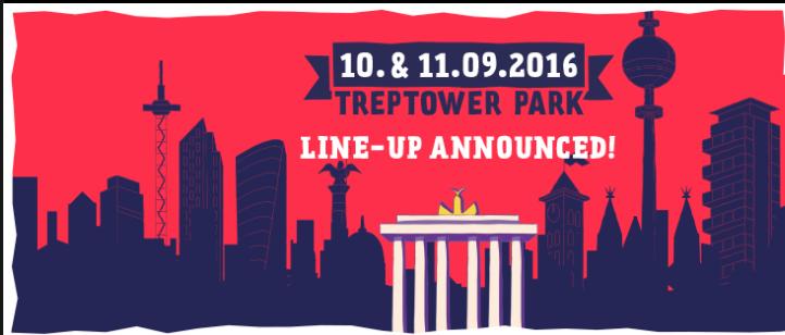Bye Bye Tempelhof, Hallo Treptower Park. Das Lollapalooza 2016 findet im Osten Berlins statt.