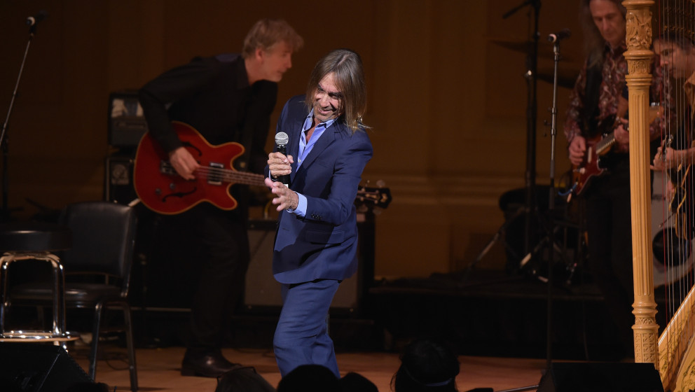 NEW YORK, NY - FEBRUARY 22:  Singer-songwriter Iggy Pop performs onstage at the 26th Annual Tibet House U.S. benefit concert