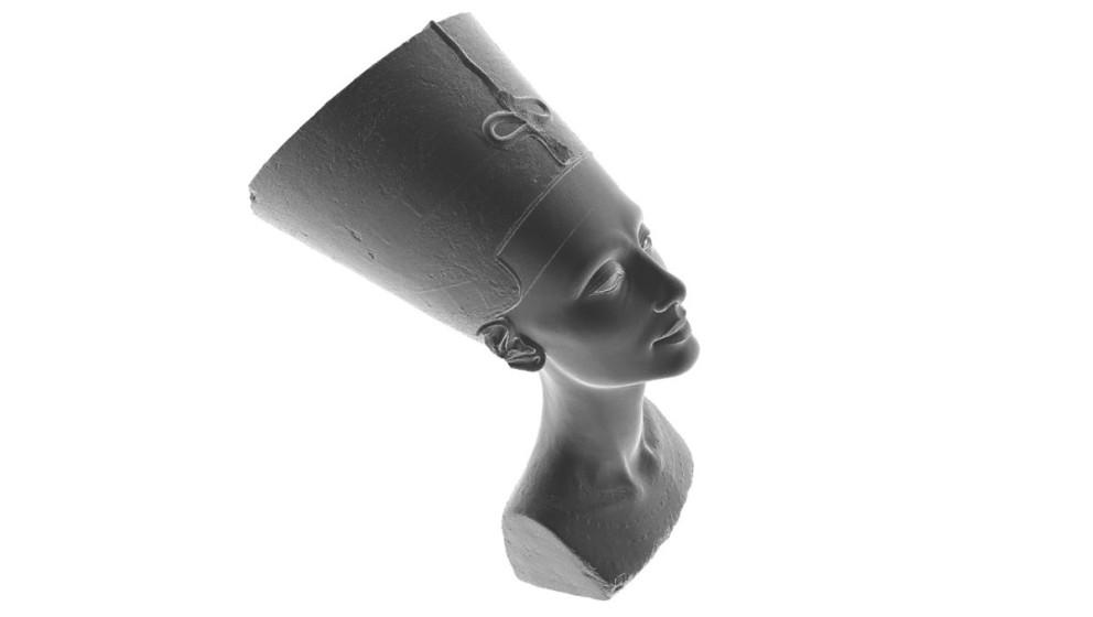 Die Büste der Nofretete als 3D-Modell.
