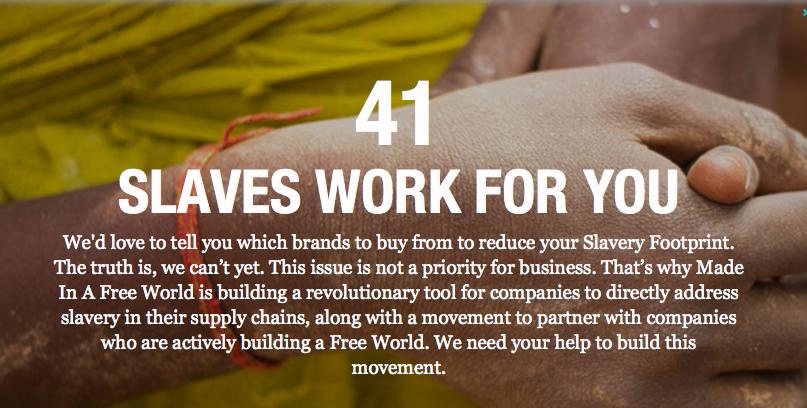 Das Ergebnis meines Sebst-Tests: 41 Sklaven