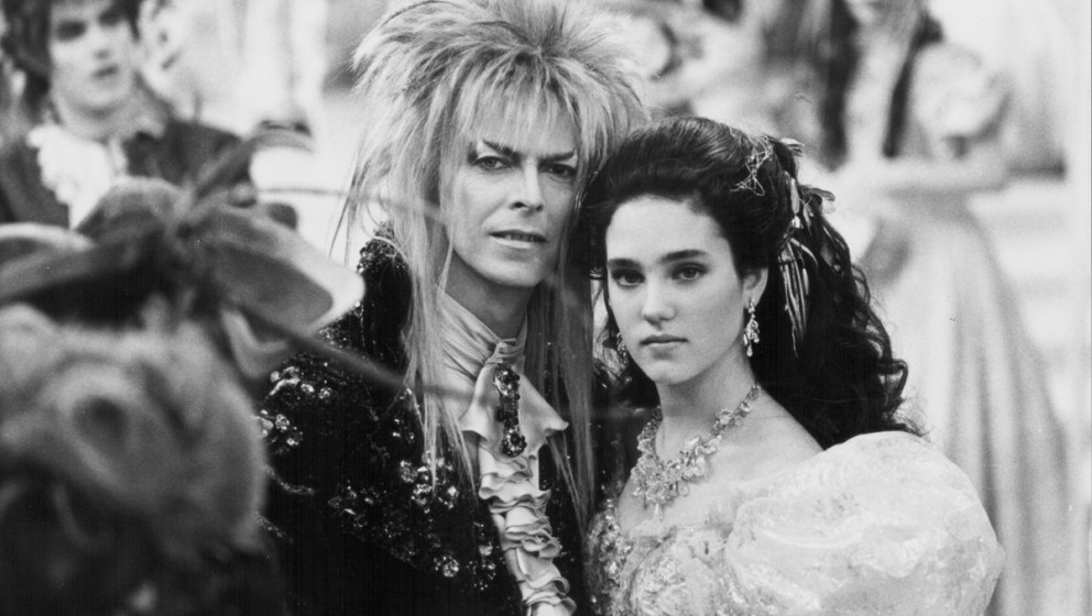 "David Bowie und Jennifer Connelly in ""Labyrinth"", 1986."