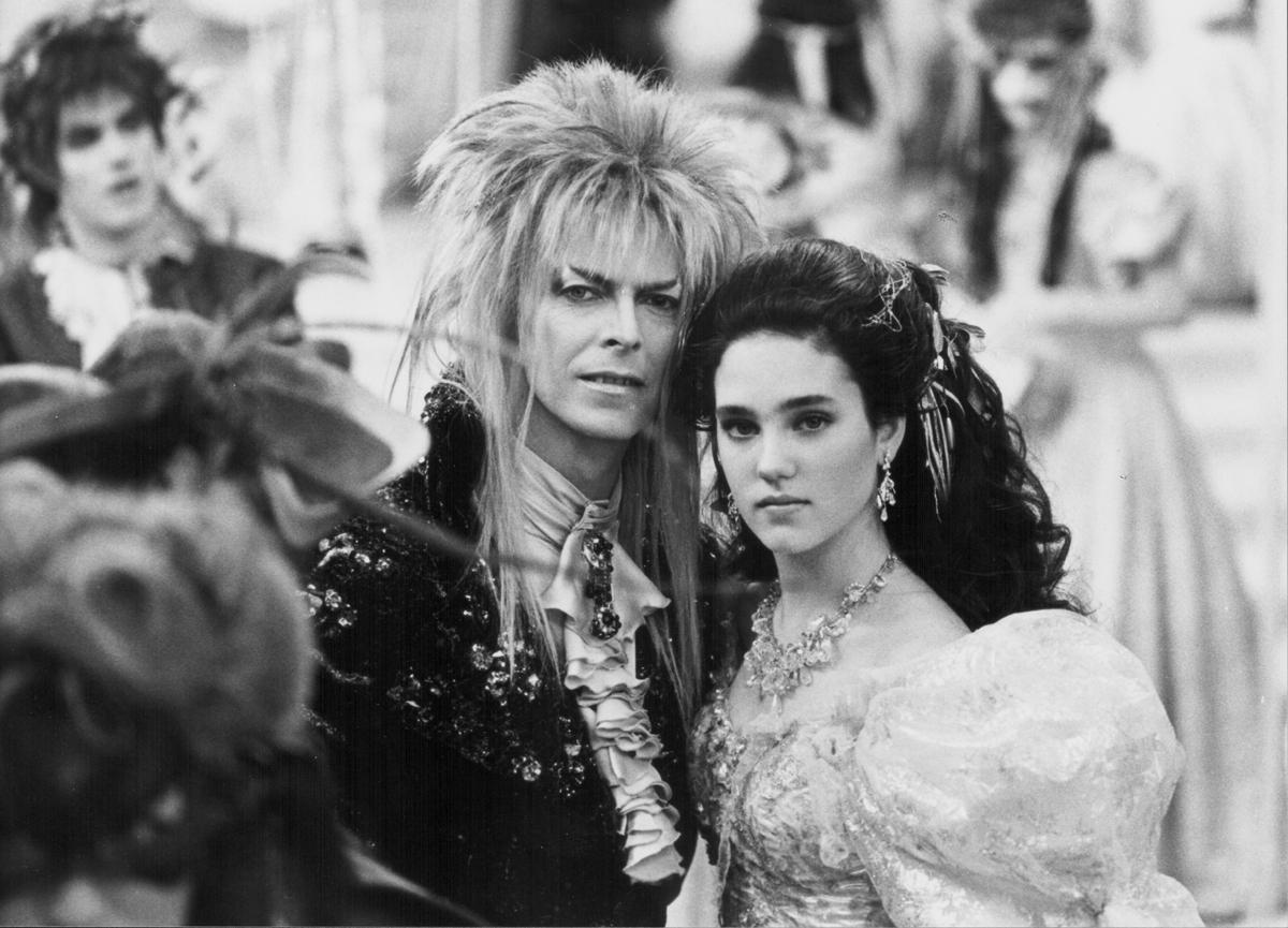 "David Bowie und Jennifer Connelly in ""Labyrinth"", 1986."
