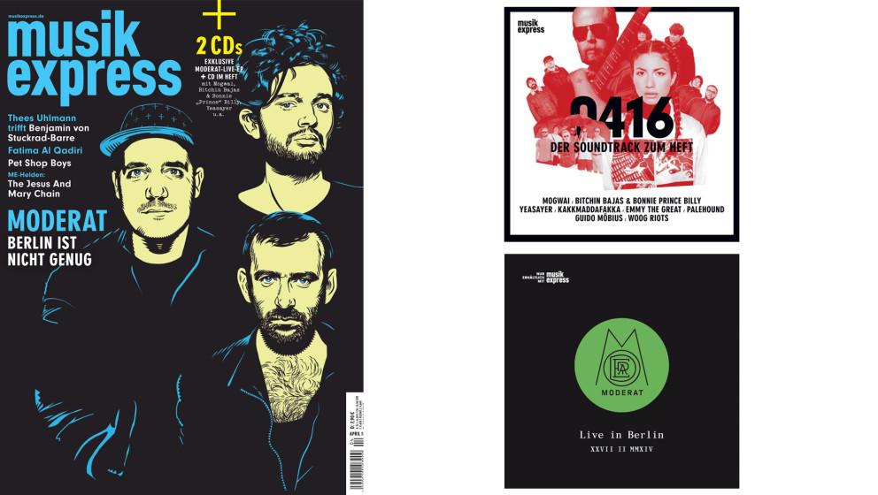 Die April-Ausgabe des Musikexpress - ab dem 10. März am Kiosk.