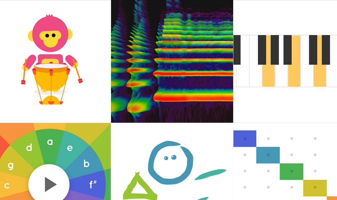 Spielerisch Musik lernen könnt Ihr mit dem Chrome Music Lab.