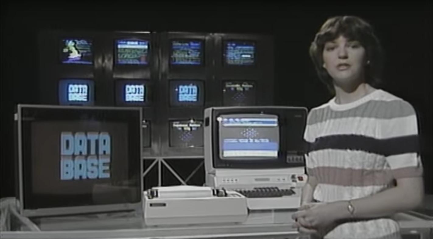 Herrlich retro; Eine Folge Database aus dem Jahr 1984.