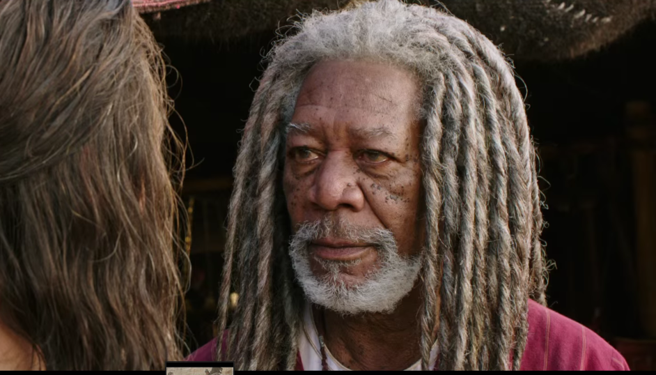 Lustlos mit lustiger Perücke: Morgan Freeman.