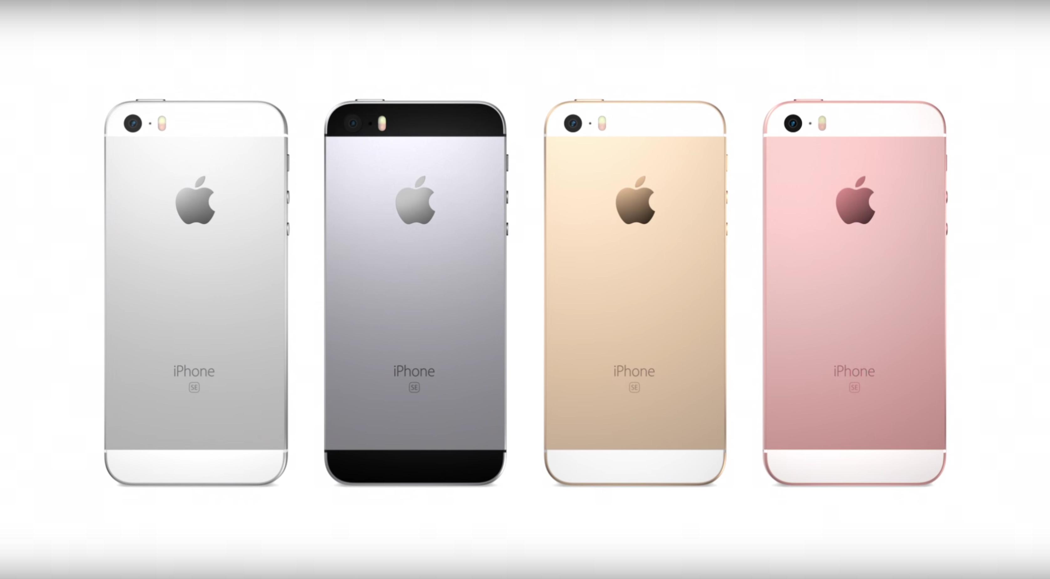 Das iPhone SE kommt in vier verschiedenen Farben.