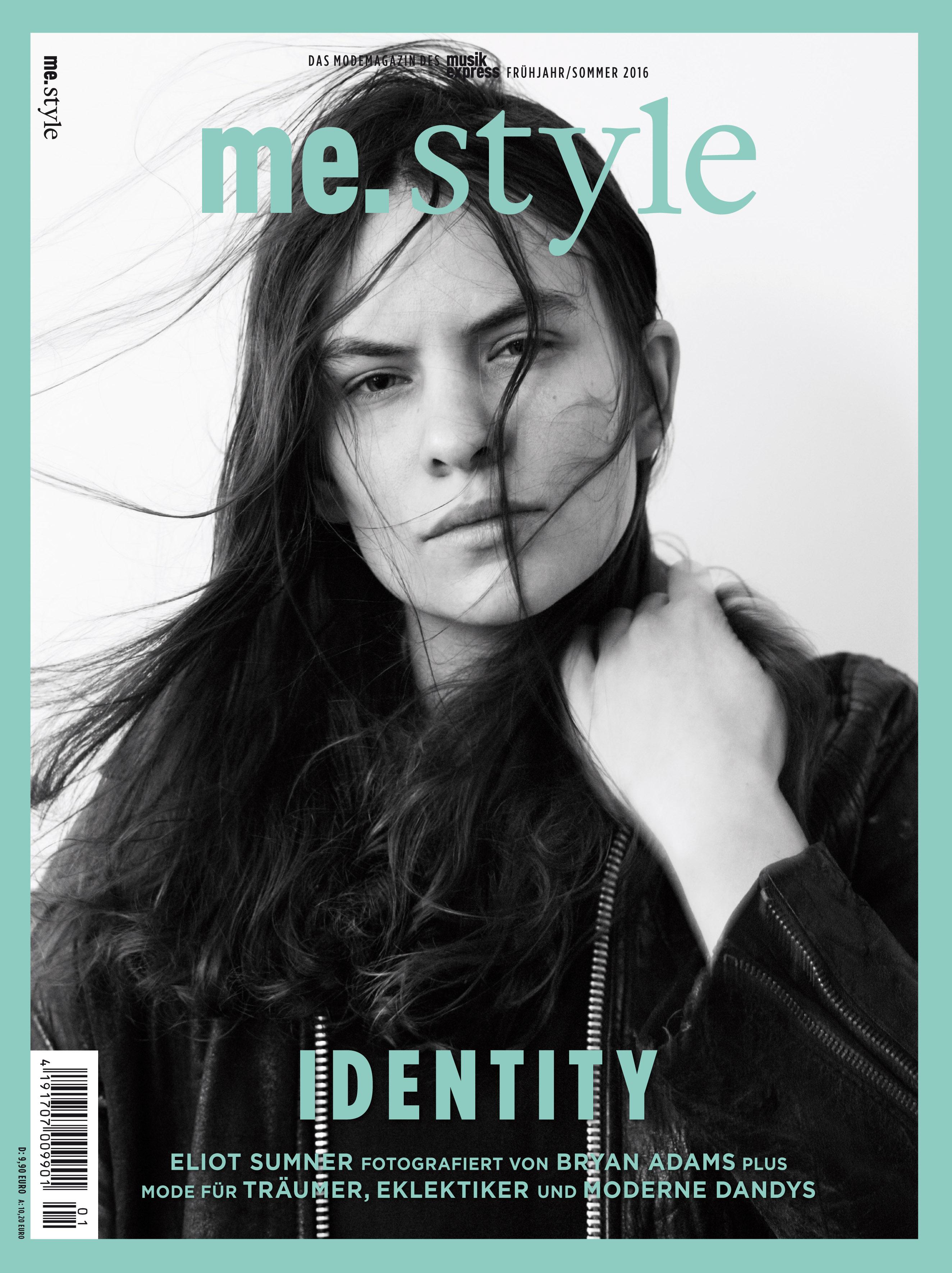 """Die Frühjahr/Sommer-Ausgabe des Modemagazins ME.STYLE beschäftigt sich dem Thema """"Identity"""". Unser Cover-Model Eliot Su"""